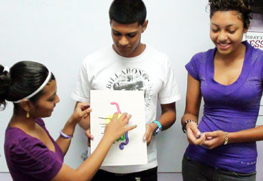 Engaged Students at SEA + CXC Classes in Trinidad. SEA + CXC Lessons